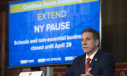 Governor Andrew M. Cuomo's NY PAUSE stay-at-home order due to the coronavirus has crippled the state's economy. Credit: Mike Groll/Office of Governor Andrew M. Cuomo.