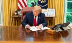 President Donald Trump signs an executive order. Credit: White House Flickr