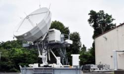 Photo: Satellite communications terminal at Camp Zama, Japan. (Winifred Brown, Army)