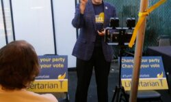 Larry Sharpe explaining what he is doing to help the Libertarian Party maintain its current qualified party status in New York State.