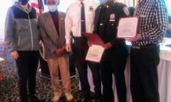 The Cop of the Month Award to P.O. Peart.