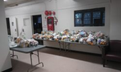 After all the people received their bags of food the extra bags were placed in the senior center for anyone who may not have gotten a bag.