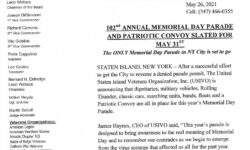 102nd Staten Island Memorial Day Parade May 31st
