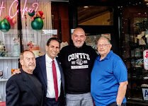 Bronx Borough Candidate Fernando Cabrera Visits 100 Year Old Conti Pastry Shop in Morris Park