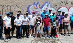 18th council Graffiti clean up