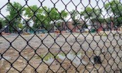 Loreto Park work stoppage