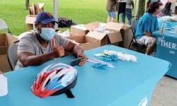 Councilman Gjonaj and DOT Bike/E-Scooter Helmet Giveaway