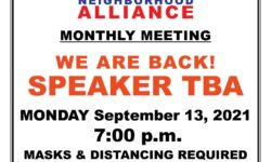 VAN NEST NEIGHBORHOOD ALLIANCE (VNNA) SEPTEMBER MONTHLY MEETING – MONDAY, SEPT 13, 2021 – 7:00PM